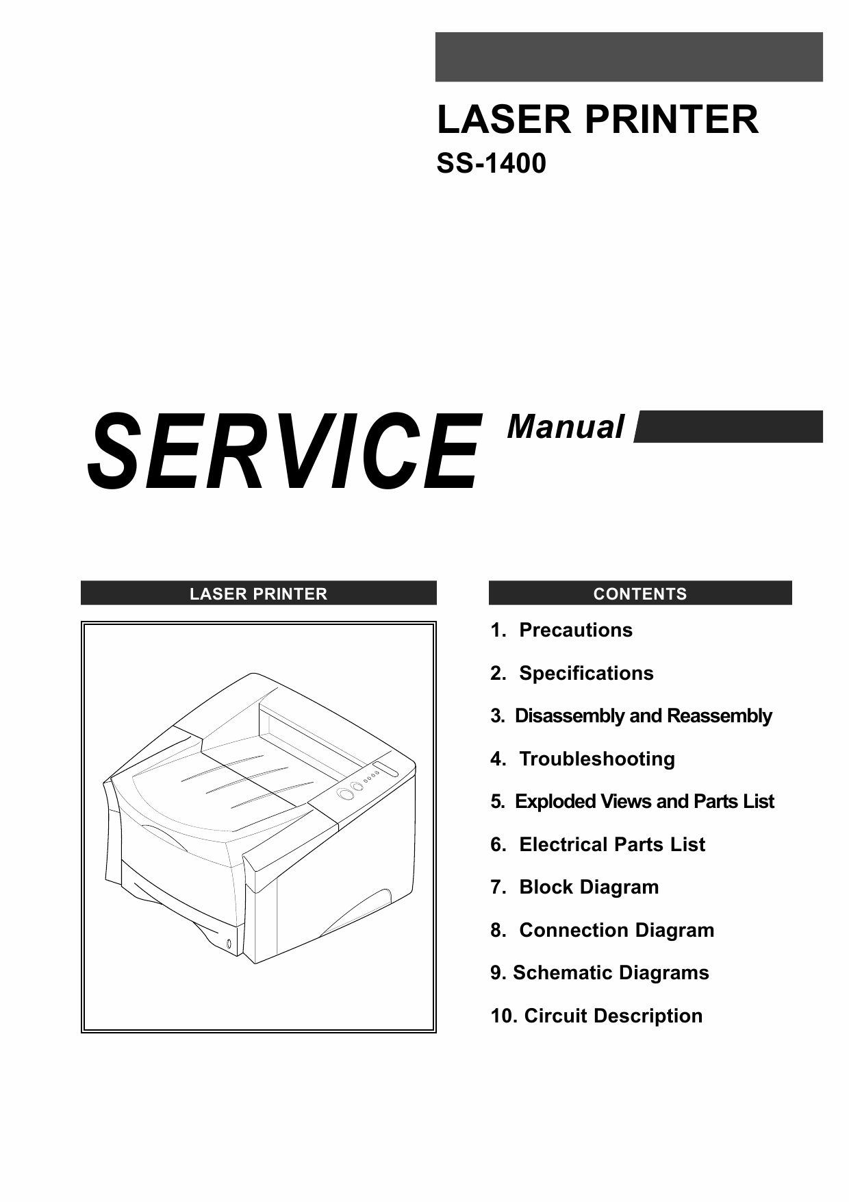 Samsung Laser-Printer SS-1400 Parts and Service Manual-1